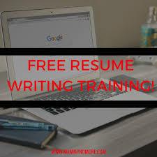 resume writer free free mini resume writing course mammy no more