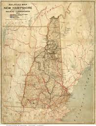 Train In Boston Map by 1894 Railroad Map Of Nh