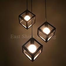 modern geometry box pendant lights for home pendant ls