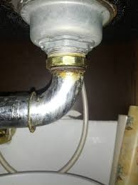 cabinet kitchen sink plumbing repair leaky sink basket strainer