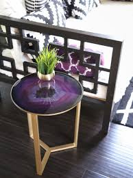 faux agate side table decorate it a collection of side tables agate decorating and gold