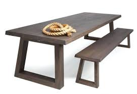 Wooden Tables And Benches Dining Table Outdoor Wood Dining Table With Benches Black Metal