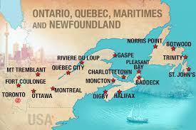 map of canada east coast adventure tours in canada moose travel network