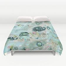 Shabby Chic Blue Bedding by Amazon Com Funky Unique Shabby Chic Duvet Cover Watercolor Art