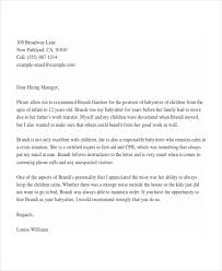 Examples Of References For Resumes by 4 Babysitter Reference Letter Templates Free Sample Example