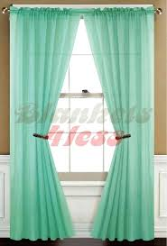 Marrakech Curtain Green Panel Curtains Mint Green Solid 1 Sheer Window Curtain Panel