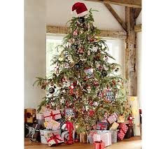 christmas tree toppers santa hat tree topper pottery barn