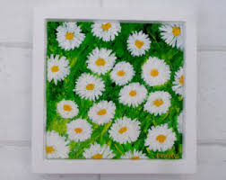 Flowers For Mum - daisy painting etsy