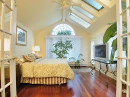 Celing Window by Traditional Master Bedroom With Hardwood Floors U0026 Skylight In