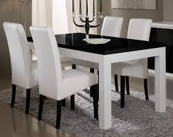 chaises de salle à manger design table de salle à manger design laquée blanche et loana
