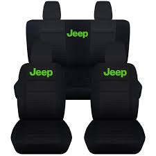 rubicon jeep 2016 black jeep wrangler jk 2011 to 2016 black seat covers with jeep black