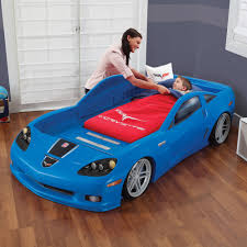 Blue Twin Bed by Step2 Daily Deal Corvette Toddler To Twin Bed With Lights Blue