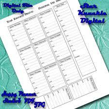 printable evening schedule happy planner stickers happy planner printable daily schedule cut