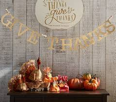 thanksgiving give thanks garland pottery barn
