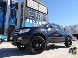 Ford Ranger Truck Rims - ford ranger with kmc badlands xd gloss black wheel and tire