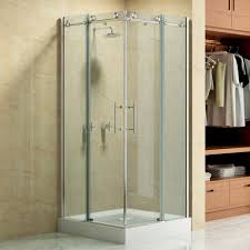 Bathroom Shower Doors Ideas Bathroom Framed Glass Shower Door Semi Frameless Shower Door