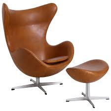Leather Reading Chair And Ottoman Arne Jacobsen