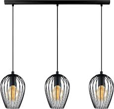 Hanging Light Fixtures by Eglo 49478a Newtown Contemporary Matte Black Multi Hanging Light