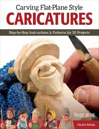 wood carving caricatures carving flat plane style caricatures fox chapel publishing