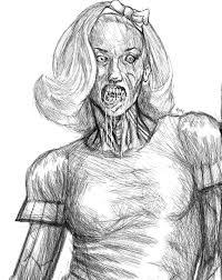 she really is a god darn zombie sketch by brendanmockridge71 on