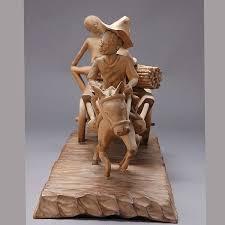 f simeon haitian wood carving the harvest wagon