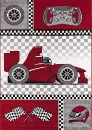 tapis pour chambre garcon tapis pour chambre de garçon crème et gris voiture f1 speed