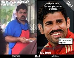 Diego Costa Meme - diego costa s long lost brother spotted in singapore