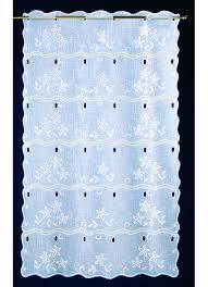 brise bise coeur voilage brise bise en étamine brodée floral blanc homemaison