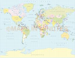 Alaska World Map by Vector World Political Map In The Gall Projection Uk Centric In