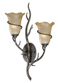 rustic lamps monterey 2 light wall lamp black forest decor