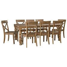 9 pc dining room set 9 piece solid pine dining table set by signature design by ashley