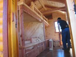 x 36 cabin w 2 loft plans package blueprints material list trophy amish cabins llc 10 x 20 bunkhouse cabinshown in the