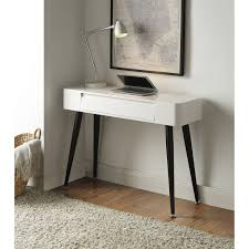 Computer Desk In Black 4d Concepts 124904 Simple Console Desk In Black White With Drawer