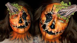 pumpkin head halloween makeup tutorial youtube