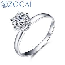 rings setting images Zocai ring cluster setting real 0 38 ct certified h si round cut jpg