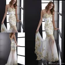 see through skirts white prom dresses with gold appliqued