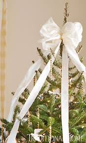 White Bows For Tree Tree Topper Inspiration Tree Toppers Large White And Holidays