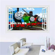 film kartun untuk anak bayi kartun film thomas 3d jendela wall sticker vinyl art decal anak anak