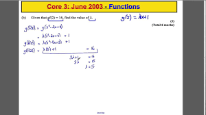 Inverse Functions Worksheet Answers A Level Maths Edexcel Core 3 Past Paper Questions Functions