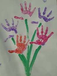 spring painting ideas spring flower hand print picture art craft for babies