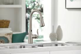 furniture luxury kraus single lever pull out kitchen faucet white