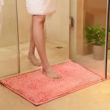 Rug Bathroom Chenille Bath Mat Toilet Carpet Door Mat Mats And Rugs For