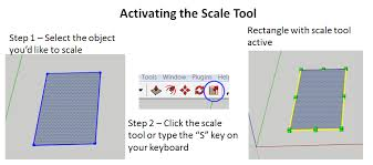 using the scale tool to modify 2d objects in sketchup the