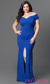 long off the shoulder plus size dress promgirl