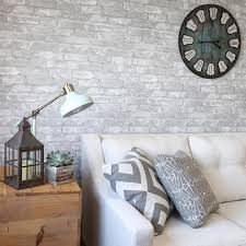 Stick And Peel Wallpaper by Gray Brick Peel And Stick Wallpaper Nu1653 U2013 D Marie Interiors
