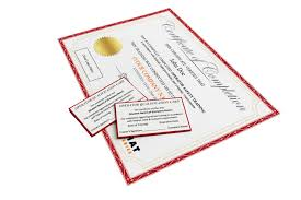 certificates and wallet cards hard hat training