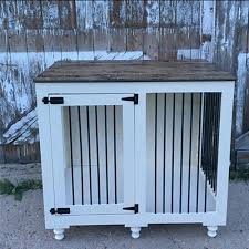 diy end table dog crate woodworking workbench projects