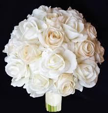 silk wedding bouquets ivory wedding bouquet silk wedding beige roses bouquet