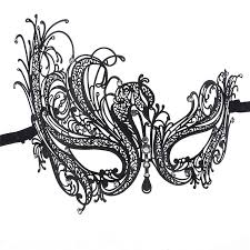 mask for masquerade wholesale black animal lace floral mask cutout eye