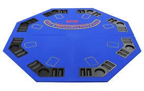 Table Top Poker Table 4 Fold Octagon Poker Blackjack Table Top Blue P 600